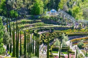 Der botanische Garten von Schloss Trauttmansdorff