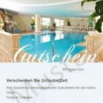 Muster Hotelgutschein Fürstenhof in Schenna